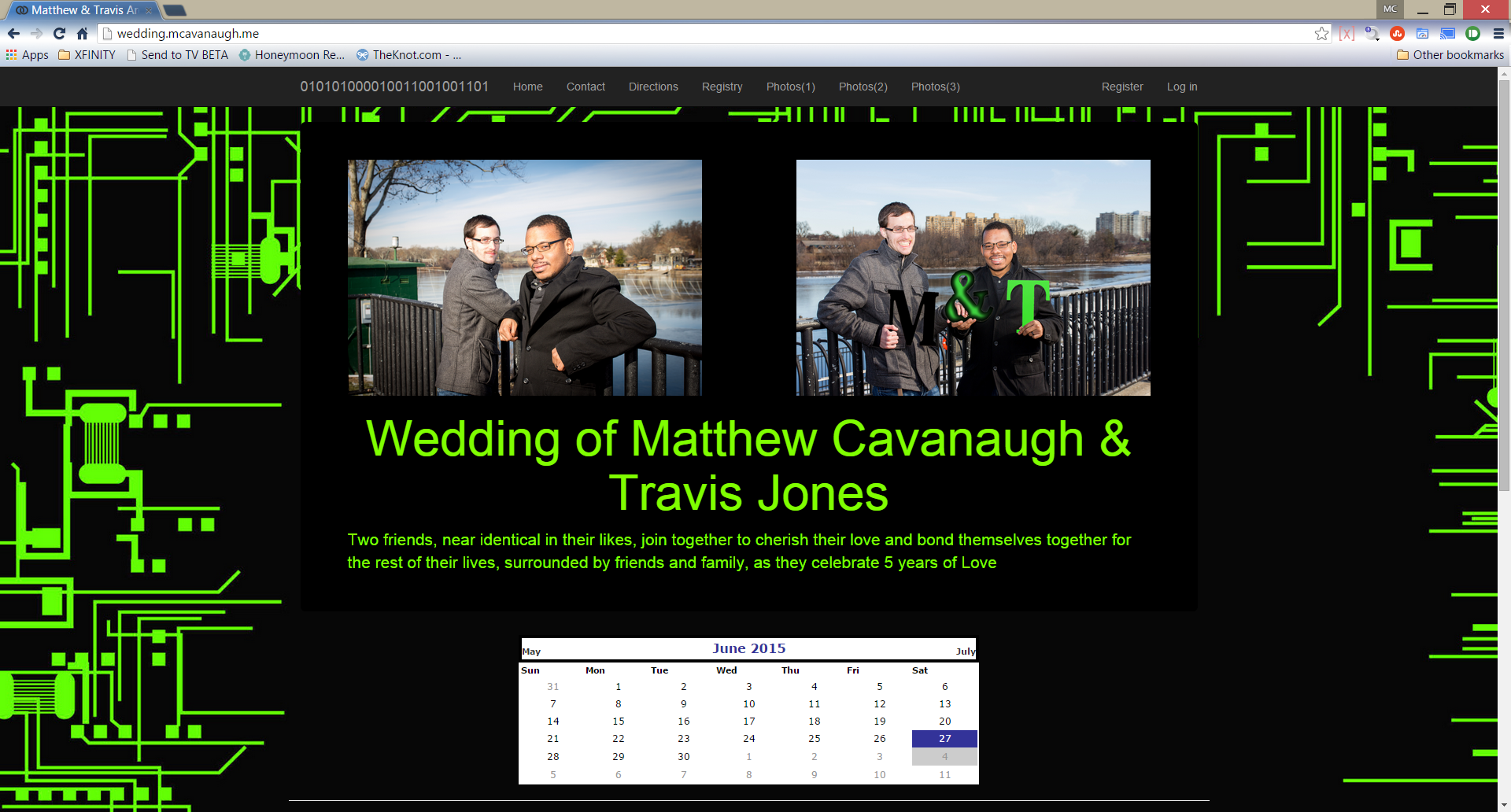 Wedding.MCavanaugh.ME screenshot